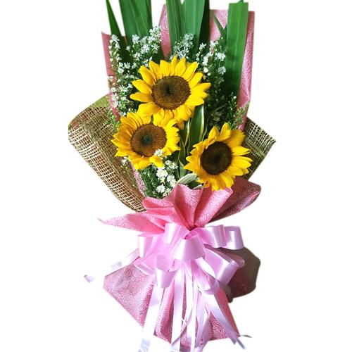 3 pcs Sunflower in a Bouquet