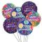 6 Pcs Anniversary Mylar Balloon