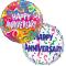 2 Pcs Anniversary Mylar Balloon