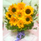 9 Piece's Sunflower Vase